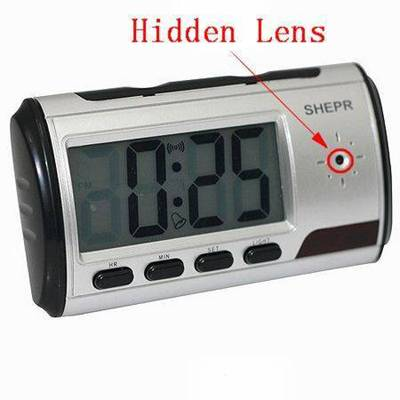 Spy Long Time Recording Digital Table Clock With Sony Camera In Delhi