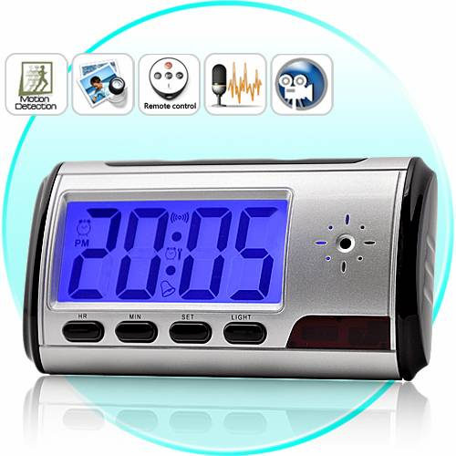 Spy Digital Table Clock With Sony Camera In Siwan